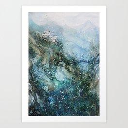 Solitude (Watercolor painting) Art Print