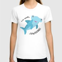 shark T-shirts featuring Shark by Michelle McCammon