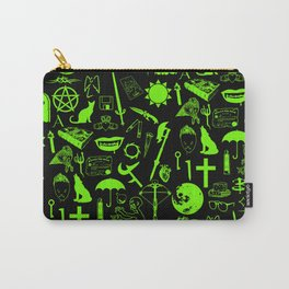 Buffy Symbology, Green Carry-All Pouch