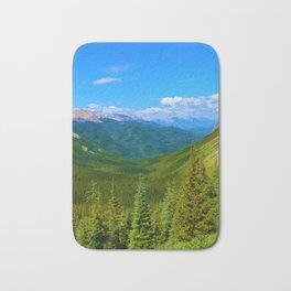 Views Along the Sulphur Skyline Trail in Jasper National Park, Canada Bath Mat