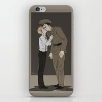 stucky iPhone & iPod Skins featuring Goodbye Kiss by barbitone