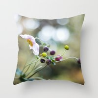 dancing Throw Pillows featuring Dancing by Katie Kirkland
