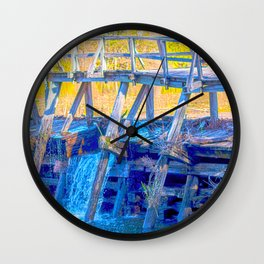 Waterfall Bridge Wall Clock
