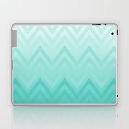 Fading Teal Chevron Laptop & iPad Skin