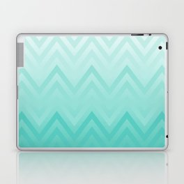 Fading Teal Chevron Laptop & iPad Skin