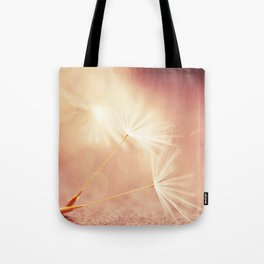 My Wish for You. dandelion seeds photograph Tote Bag