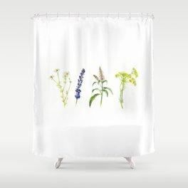 Tea Flowers Shower Curtain
