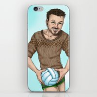 volleyball iPhone & iPod Skins featuring volleyball guy by Isaac Fortaich