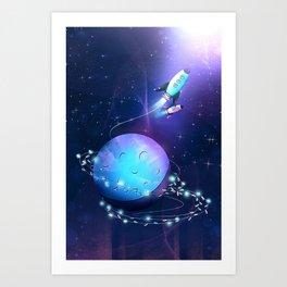 Light String Rocket Art Print
