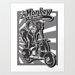 Monkey Riders Art Print