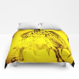 Yellow Bat Comforters