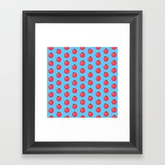 Tomatoes Over Blue Framed Art Print