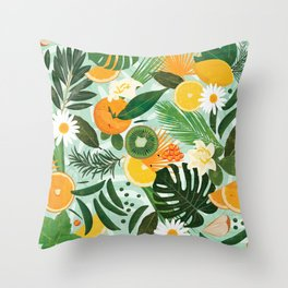 Spring and Deli Throw Pillow
