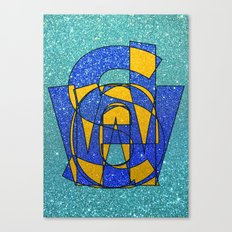 SWEDEN - Glitter Canvas Print