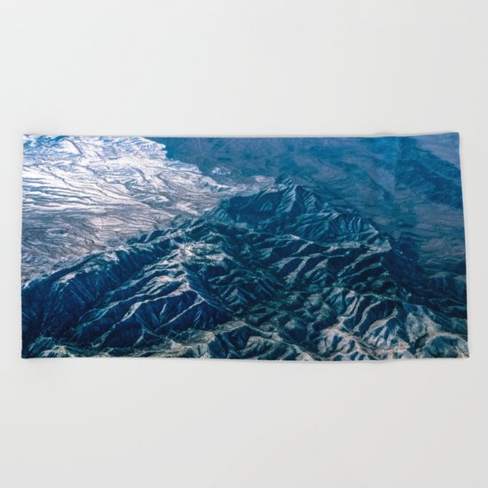 The Mountains Below Beach Towel