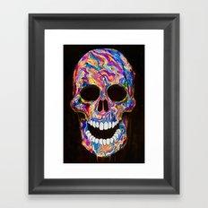 Chromatic Skull 02 Framed Art Print