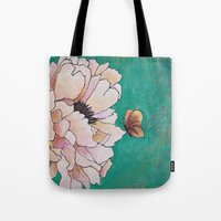 poem Tote Bags featuring butterfly poem by Erika