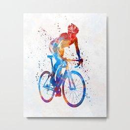 Woman triathlon cycling 06 Metal Print
