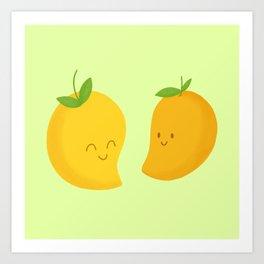 Happy Mangoes Art Print
