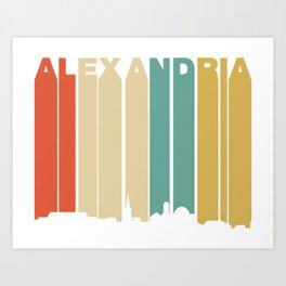 Retro 1970's Style Alexandria Virginia Skyline Art Print