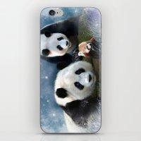 pandas iPhone & iPod Skins featuring Pandas by Julie Hoddinott