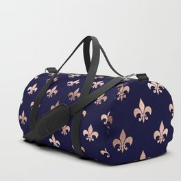 Royal Blue Rose Gold Pattern Duffle Bag