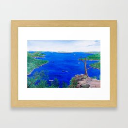 Scenic lake view Framed Art Print