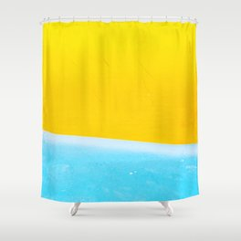 Sea & Sand Watercolor painting Abstract Shower Curtain
