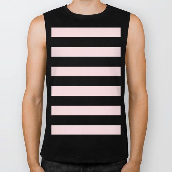 Simply Stripes in Pink Flamingo Biker Tank
