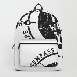 In compass we trust slogan Backpack