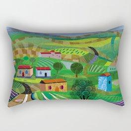 Santa Barbara Wine and Cheese Rectangular Pillow