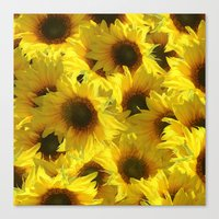 sunflowers Canvas Prints featuring Sunflowers by LLL Creations