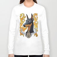 doberman Long Sleeve T-shirts featuring doberman - Vera by PaperTigress