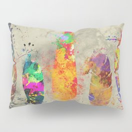 Painted feathers Pillow Sham