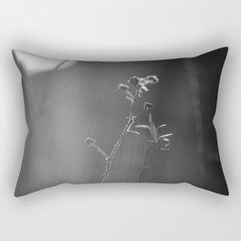 Black and white buds Rectangular Pillow