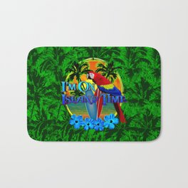 Island Time Surfing Palm Trees Bath Mat