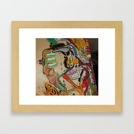 perfect vortex of exploding body Framed Art Print