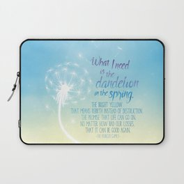 A Dandelion in the Spring Laptop Sleeve