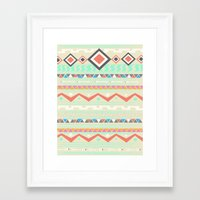 native Framed Art Prints featuring Native by Nika