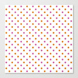 Fun Dots pink orange Canvas Print
