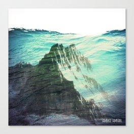 Underwater Mountain Canvas Print