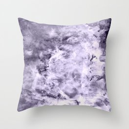 Lavender Gray Carina nEbULa Throw Pillow
