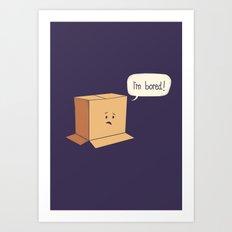 Card-Bored Art Print