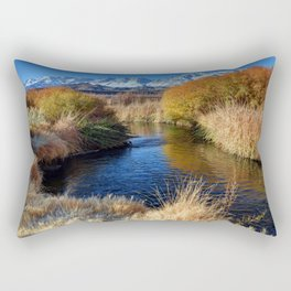 Owens River And Eastern Sierra Nevada Mountains Rectangular Pillow