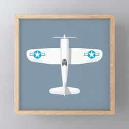 F4U Corsair Fighter Aircraft - Slate Framed Mini Art Print