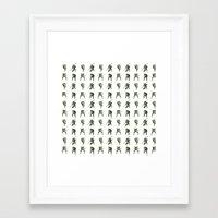 ninja turtle Framed Art Prints featuring Ninja Turtle Pattern by Neal Julian