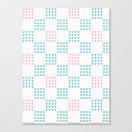 Abstract Chequered Grid Background. Hand Drawn Canvas Print