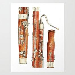 Bassoon Art Print