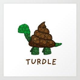 Turdle - Poop - Turtle - 57 Montgomery Art Art Print