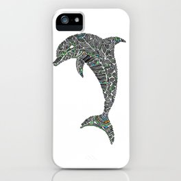 Jumping Dolphin iPhone Case